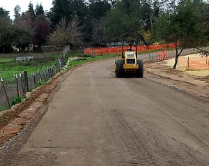 Compacting base rock, Orangevale, CA