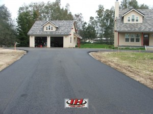 Asphalt driveway in Granite Bay, California