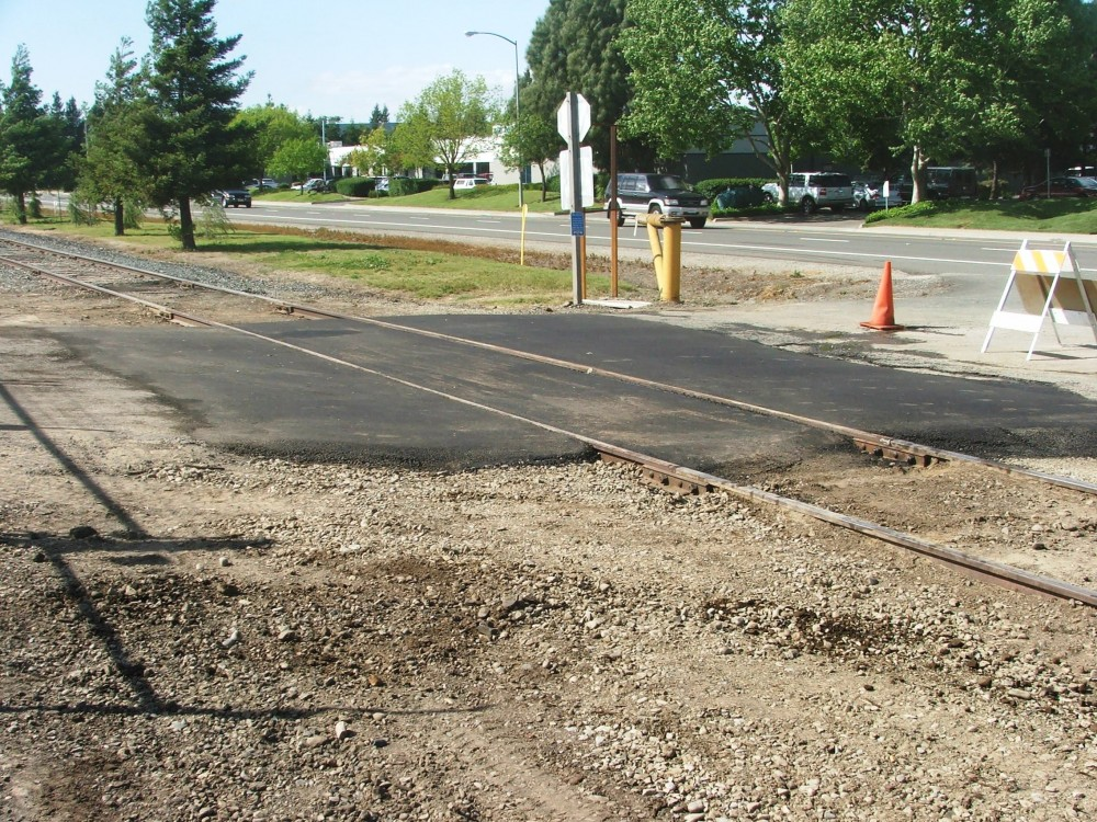 Railroad paving repair